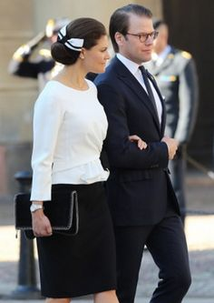 Crown Princess Victoria, September 30, 2014 | Royal Hats.....  Posted on September 30, 2014 by HatQueen .....Members of the Swedish Royal Family accompanied King Carl Gustaf this morning to officially open Swedish Parliament.