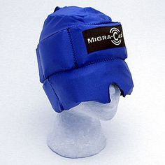Migra-cap.  Do you know someone with migraines?  Please tell them about this, it has been a great help for me!  Cold packs surrounding your head and just the right amount of pressure.