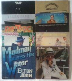 Elton John - Lot of 10_Vinyl Record LP_Honky Chateau/Yellow Brick Road/Fantastic