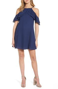 Main Image - Dee Elly Ruffle Cold Shoulder Dress