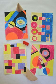 Sonia Delaunay Painting with Kids