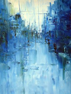"""""""Cold #3 Abstract cityscape"""" by Samuel Durkin"""
