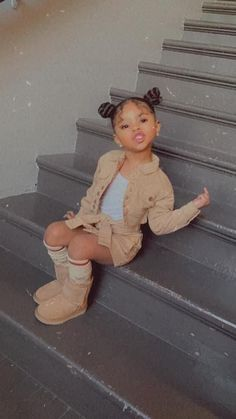 Cute Mixed Babies, Cute Black Babies, Black Baby Girls, Cute Little Baby, Cute Little Girls Outfits, Kids Outfits Girls, Toddler Girl Outfits, Baby Outfits, Cute Kids Fashion