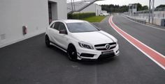 Mercedes AMG Edition 1 Driven on Track - Video Mercedes A45 Amg, Number One, Track, Cars, Runway, Truck, Running, Track And Field