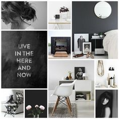 mood board black&white
