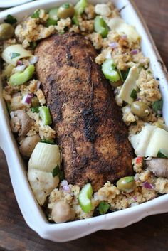 Apple, Sage & Molasses Vegan Holiday Roast (made with Gardein Holiday Roast) with Mother-In-Law Stuffing