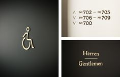 Brand identity and signage for Vienna's Grand Ferdinand hotel by Austrian graphic design studio Moodley
