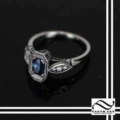 Art Deco Sapphire And Pearl Engagement Ring <-- THIS! Future husband, take note! This is the perfect ring for me :)