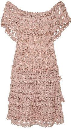 Ideas Crochet Vestidos Fashion Vanessa Montoro For 2019 Crochet Skirt Pattern, Crochet Skirts, Crochet Clothes, Crochet Lace, Crochet Patterns, Vanessa Montoro, Knit Dress, Dress Skirt, Crochet Woman