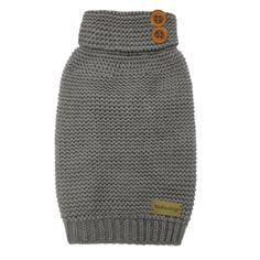 FouFou Crochet Dog Sweater - Gray