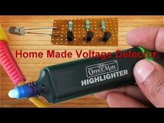 Home Made Voltage Detector/Tester (Non Contact) Ac Circuit, Circuit Diagram, Electronic Circuit Projects, Electronics Projects, Homemade Ac, Beginner Woodworking Projects, Wood Working For Beginners, Cool Gadgets, Technology