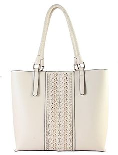 Diophy Stitichings Interior Divided Compartments Snap Closure Satchel Handbag LI3261 Beige * Read more reviews of the product by visiting the link on the image.