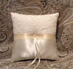 Ring bearer pillow custom made white or ivory satin by irmart