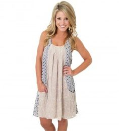 Loving this new baby doll dress! comes in navy too! check out the new arrivals online!
