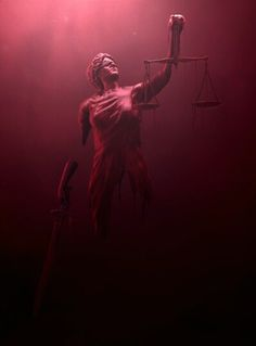 Lady justice from the Daredevil intro