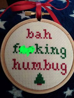 Hey, I found this really awesome Etsy listing at https://www.etsy.com/listing/232174502/mature-bah-humbug-funny-cross-stitch