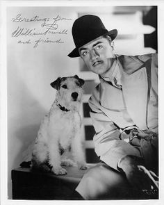 William Powell and Asta  1930s -  All About Asta