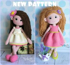 Mirra the doll crochet pattern pdf in English by MyCroWonders