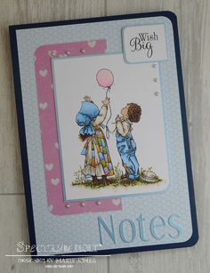 Notebook made using Crafter's Companion Hollie Hobbie – Wish Big Stamp. coloured with Spectrum Noir Colouring System Markers – FS2, FS3, FS6, BGR3, BGR6, TB1, TB2, TB3, BG1, BG4, BG6, BG8, GB2,GB5, GB8, GB10, TN2, TN7, LV1, LV2, EB1, EB2, EB5, EB7, EB8, DG2, DG3, DG4, PP1, PP3, PP5. Designed by Marie Jones #crafterscompanion #spectrumnoir