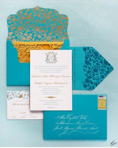 CeciStyle v142: Luxury Wedding Invitations by Ceci New York - Our Muse - Floral-Inspired Wedding - Be inspired by Kim & Martys sweet Santa Monica wedding - wedding, invitations, letterpress printing, foil stamping.