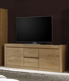 top lowboard fernsehtisch sideboard tv tisch kommode massiv in eiche ge lt in m bel wohnen. Black Bedroom Furniture Sets. Home Design Ideas