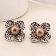 Glass #Pearl #Earrings,  perfect for daily wear http://www.beads.us/product/Glass-Pearl-Earring_p214081.html?Utm_rid=219754