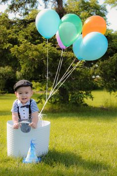 """my little boy 1st birthday . """"Up"""" theme :)  ----we have one of these pics!!! @Genaca McCarley"""