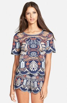J.O.A.+Embroidered+Woven+Top+available+at+#Nordstrom
