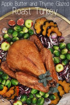 Cooking a whole turkey is a cost-effective, convenient and nutritious way to create multiple delicious meals for your family. Get started with this recipe for Apple Butter and Thyme Glazed Roast Turkey! Delicious Meals, Yummy Food, Whole Turkey Recipes, Turkey Glaze, Turkey Time, Apple Butter, Roasted Turkey, Awesome Food, Food Food