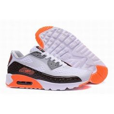 online store e0543 dcac0 Nike Air Max 90 Blanc Orange Noir Hommes  AirMax90Hommes