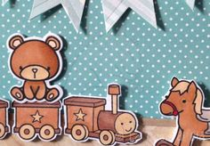 baby room card lawn fawn Pa-Rum Pa Pum - Pum mama elephant carnival cupcakes