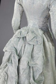 BLUE MATELESSE RECEPTION DRESS, 1870-1880 - 7