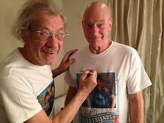 Gogodididonyc T Shirt Signed by Patrick Stewart Ian McKellen Size Small | eBay