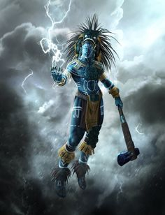 Chaac was the God of Rain and Thunderstorms, Fertility and Agriculture[ 黒雲 ]