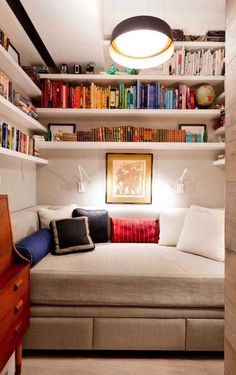 30 Incredibly cozy built-in reading nooks designed for incredibly cozy reading no. - 30 Incredibly cozy built-in reading nooks designed for lounging, Bed Nook, Bedroom Nook, Comfy Bedroom, Cozy Nook, Home Decor Bedroom, Teen Bedroom, Library Bedroom, Bedroom Ideas, Bedroom Designs