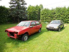 Two Lada Samaras in backyard