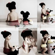 2 in 1 Mickey Mouse or Minnie Mouse Diaper by CraftyCreations09, $27.95