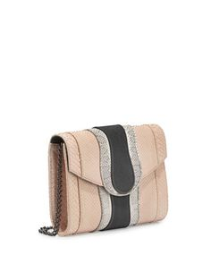 KHIRMA Jolie Mixed-Media Clutch Bag Rose/White/Smoke $625  (Compare Elsewhere $725) SHIPS FREE BEST PRICES YOU WILL FIND ANYWHERE ON GENUINE LADIES DESIGNER BRANDS! FREE WORLD SHIPPING & LOCAL DELIVERY AVAILABLE AT THE SURF CITY SHOP in Huntington Beach, California Major Credit Cards Accepted