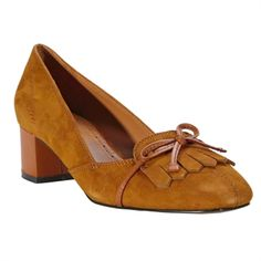 Brooks Brothers Kiltie Suede Low Heel Pump | from Von Maur #VonMaur #FashionableFootwear