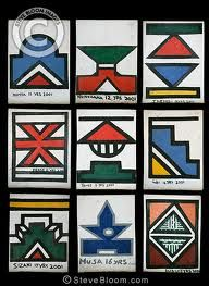 ndebele house painting the patterns - Google Search