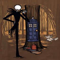 The Nightmare Before Christmas / Doctor Who - Jack Skellington and the Doctor (by Karen Hallion)