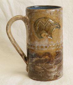 hand built ceramic southwest bear coffee mug 20oz by desertNOVA, $22.00