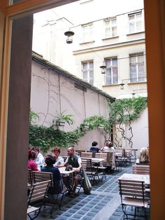 Cafe Louvre in Prague. Awesome little outdoor seating area if you're lucky enough to get a spot.