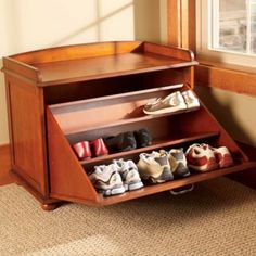 Use This Wood Shoe Bench To Add Style And Storage To A Bedroom Or Entryway  While Providing A Convenient Place To Sit. Our Handsome Shoe Storage Bench  Hides ...
