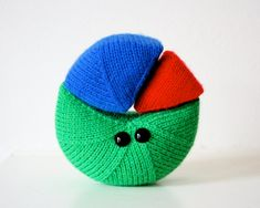 Knit an Exploding Pie Chart - Data Has Never Been So Fun! #knit #knitting #geek #nerdy #math #etsy