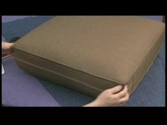 Creating a Couch Slipcover : Measuring Couch Slipcover Cushion Fabric