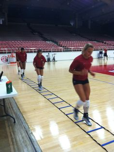 First day of practice! Warming up and then it's go time!