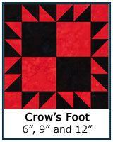 Crow's Foot quilt block tutorial