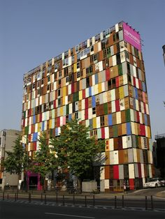 South Korean Artist Choi Jeong-Hwa used 1000 brightly colored recycled doors to transform a bland building into an eye-popping visual indulgence. Read more: 1000 Recycled Doors Transform the Facade of a Building in Seoul Unusual Buildings, Amazing Buildings, Interesting Buildings, Modern Buildings, Art Et Architecture, Amazing Architecture, Creative Architecture, Chinese Architecture, Futuristic Architecture