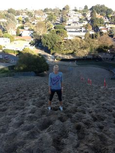 Maria's Facebook: Sand dune training. I ran up the same hill as a 13 year old girl and I can say it has not gotten any easier!